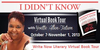 INTERVIEW | Yvette Allen-Tatum, author of I Didn't Know